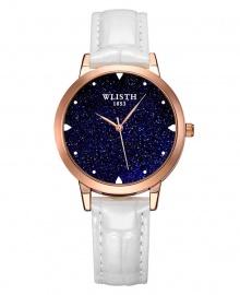 Wlisth Fashion Starry Sky Women's Waterproof Quartz Leather Watch - White