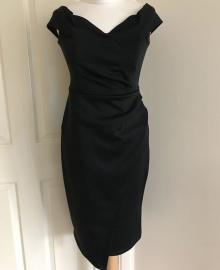 Debs Black Wrap Pencil Dress