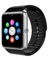 Touchscreen Bluetooth Smart Watch, Touchscreen with Camera, Cell Phone Watch with SIM Card Slot Compatible with Android Samsung iOS Phones Smartwatch - Silver