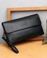 Jeep Men's Luxury Fashion Wallet Leather Clutch Bag Purse - Black