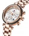 Reward VIP Women Three Eyes Quartz Bracelet Wrist Watch - Rose Gold