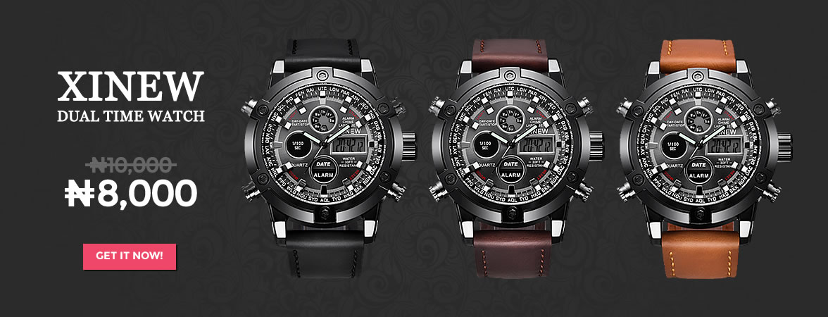 Xinew Dual Time Watch Banner